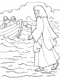 Small Picture Jesus Walks on Water Coloring Page Free Printable Coloring Pages