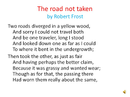the road not taken by robert frost road at chantilly by paul  the road not taken by robert frost