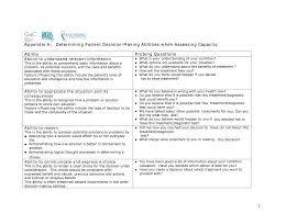 determining patient decision making abilities when assessing determining patient decision making abilities when assessing capacity