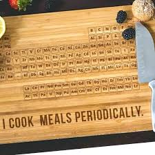 periodic table of wood periodic table cutting board periodic table engraved bamboo wood cutting board periodic table of wood