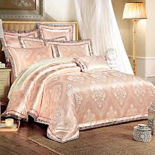 silk luxury bedding. Simple Luxury 46 Pcs Pink Color Jacquard Luxury Bedding Sets QueenKing Size Boho Lace  Silk Beds Et Cotton Bed Linen Duvet Coverin Sets From Home  Intended