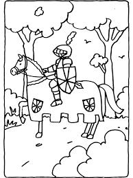 Kleurplaat Ridder Op Het Paard Kleurplatennl