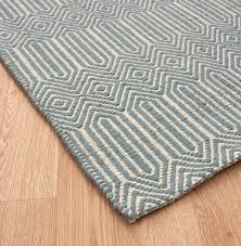 flatweave wool cotton sloan duck egg blue white rugs