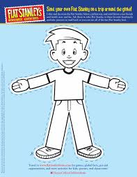 Flat Stanley Cut Out Template Front Hey Thats Me Pinterest