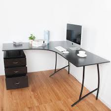 minimalist modern l shaped home computer writing desk