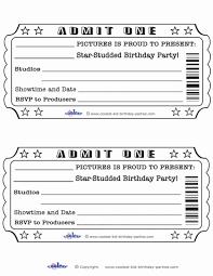 tickets template blank ticket template golden empower board in 2019