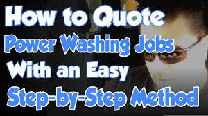 How To Quote Price Bid Power Washing Jobs