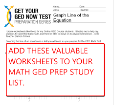 GED Math Worksheets – MY GED LIVE