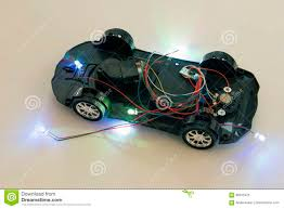 Led Light Toy Car A Toy Car Without A Top Body Stock Image Image Of Glass