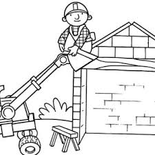 Small Picture Bob the Builder Preparing Tools Before Working Coloring Page Bob