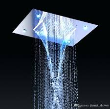 rain shower system shower system double waterfall rainfall large ceiling led rain shower head recessed automatic