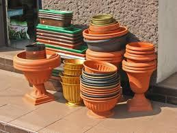 painting plastic flower pots thriftyfun
