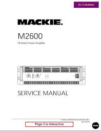 mackie m 2600 fr series power amplifier service manual pligg mackie m 2600 fr series power amplifier service manual