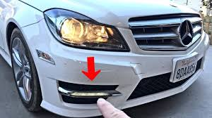 2013 Mercedes C250 Daytime Running Lights Mercedes W204 Drl Lights Removal Replacement