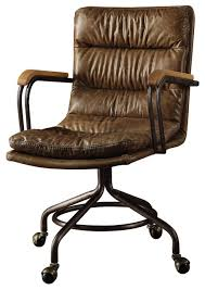 Brown leather office chair Big Hedia Topgrain Leather Office Chair Vintage Whiskey Houzz Hedia Top Grain Leather Office Chair Vintage Whiskey Industrial