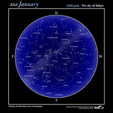 Star Chart Naoj National Astronomical Observatory Of
