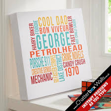 personalised typographic prints posters canvases with on screen previews