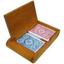 wooden card boxes box with cards wood slot