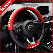 supreme leather steering wheel cover