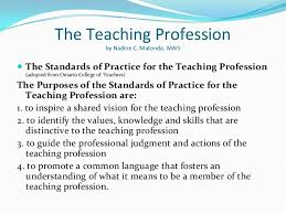 the teaching profession pptx  the teaching profession by nadine c matondo