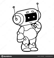 coloring book for children robot stock vector