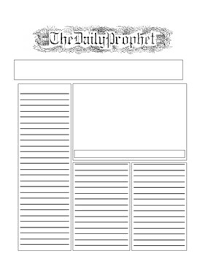 Harry Potter Newspaper Template The Daily Prophet Template