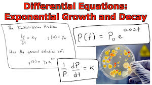 diffeial equations population growth proportionality constant
