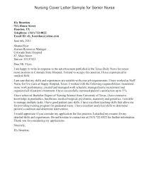 Examples Of Cover Letters For Nursing Nursing Cover Letter Sample