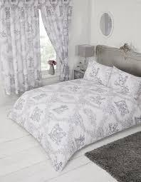 french country design toile de jouy bedding duvet quilt cover set grey colour 10167 p jpg