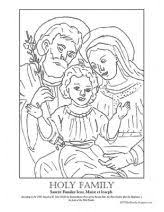 Holy Family Coloring Page Christmas Family Coloring Pages