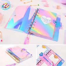 <b>A6</b> PVC <b>Creative</b> laser Rainbow Planner <b>notebook</b> Quality Planner ...