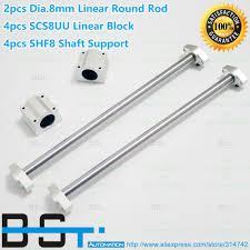 <b>Linear</b> Rod <b>2pcs</b> Dia. 8mm <b>Linear</b> round rail 100 200 300 400 500