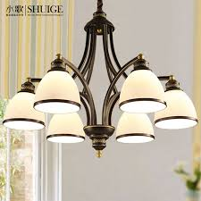 water american chandelier living room lamp bedroom restaurant simple modern retro wrought iron lamps american country nordic study lighting master