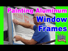 how to paint metal or aluminum windows