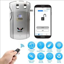 WAFU Keyless Smart Remote Control Lock for Home with Bluetooth ...