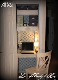 coat closet turned home office come check out my new home office space new post on love of family home blog