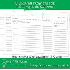holes by louis sachar 40 journal prompts from mr magician on teachersnotebook