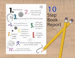 how to start a book report book report steps