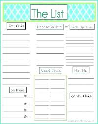 Template To Do List Word Excel Things To Do Template