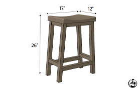 DIY Bar Stool Plans - Dimensions