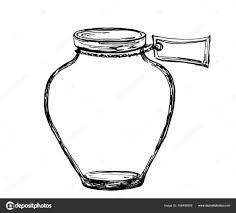 ベクトル ラベルが付いている手描きスケッチ瓶デザイン印刷の