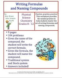 best basic chemistry review images chemistry writing formulas and naming compounds homework chemistry helpchemistry