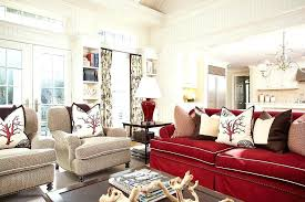red sofa living room a touch of beach style elegance rejuvenates the gorgeous family room in red sofa living room