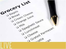 Grocery Shopping List Organizer Grocery List Organizer