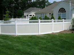 Delighful Vinyl Privacy Fence Ideas Hamptons Style Garden Intended Inspiration