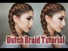 how to dutch braid your own hair step