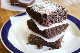 Image result for  brownie icing sugar dusted