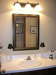 Bathroom Mirror Frame Wooden Frame For Medium Sized Bathroom Mirror Hanging On Creamy