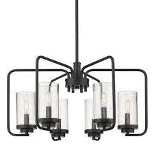 holden 6 light black chandelier