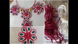 Galy K Design 2018 New Neck Dori Hand Stitch Embroidery Designs 2018 Embroidery